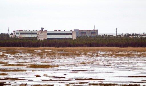 منشآت قاعدة نيونوسكا العسكرية في منطقة أرخانغيلسك في روسيا في 9 تشرين الثاني/نوفمبر 2011