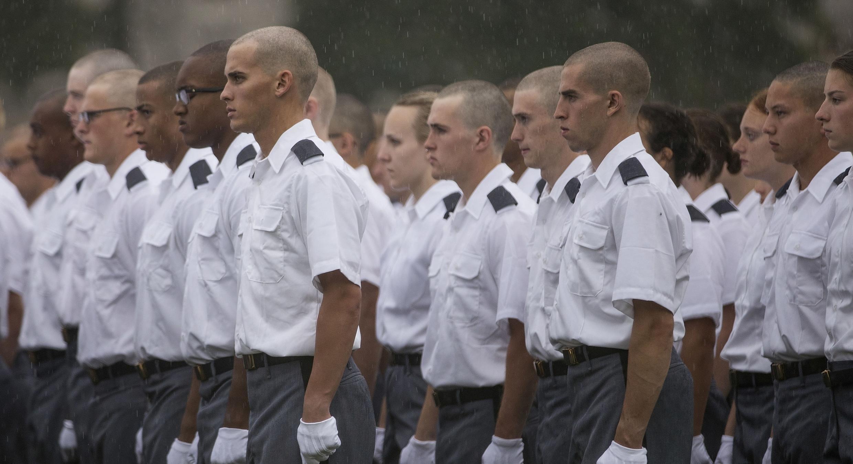 Aspirants officiers de l'armée américaine, le 27 juin à New York.