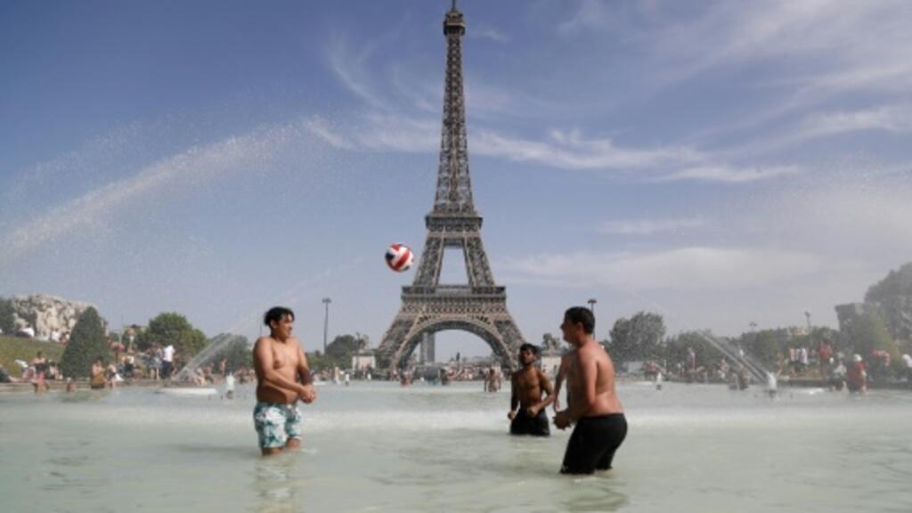 باريس تستعد لارتفاع قياسي في درجات الحرارة، وموجة حر جديدة في أوروبا