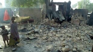 Une maison du village de Dalori en banlieue de Maiduguri, au Nigeria, après une attaque de Boko Haram, le 31 janvier 2016.
