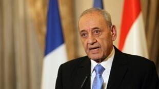 رئيس مجلس النواب اللبناني وزعيم حركة أمل نبيه بري