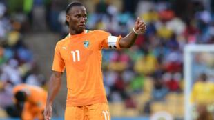 Le capitaine de la Côte d'Ivoire Didier Drogba.
