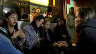 Angelina Jolie, como enviada de Acnur, visitó varios refugios de venezolanos en Perú.