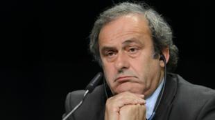 Le président de l'UEFA Michel Platini, lors du 65e congrès de la Fifa, le 28 mai 2015 à Zurich.