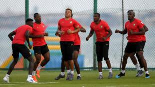 Le Cameroun à l'entraînement avant son premier match de la la CAN-2019.