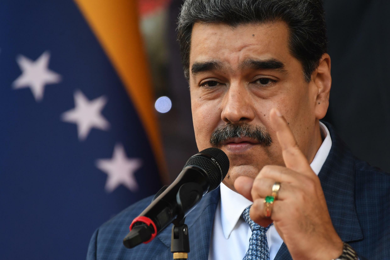 El presidente de Venezuela, Nicolás Maduro, el 15 de octubre de 2021 en el presidencial Palacio de Miraflores en Caracas