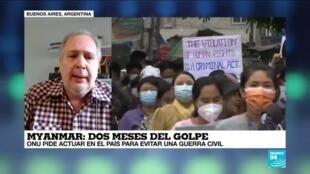 "2021-04-01 14:39 Fernando Pedrosa: ""En Myanmar la guerra civil está a la vuelta de la esquina"""