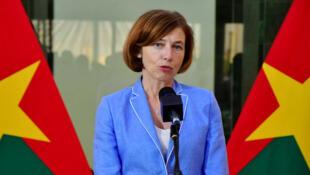 La ministra francesa de las Fuerzas Armadas, Florence Parly, el 4 de noviembre de 2019, en Uagadugú, Burkina Faso.