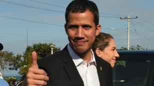 زعيم المعارضة الفنزويلي خوان غوايدو خلال زيارته للإكوادور - 2 مارس/ آذار 2019