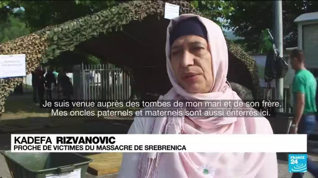2021-07-11 19:08 Des victimes du génocide de Srebrenica enterrées 26 ans après
