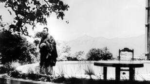 The Dalai Lama pictured on May 22, 1959, in the garden of his residence in Mussorie, India, where he is in asylum after fleeing Chinese repression in Tibet