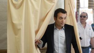 Le vice-président du Front national, Florian Philippot, candidat dans la 6e circonscription de la Moselle.