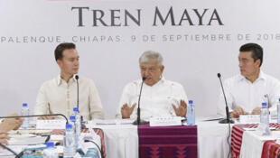 Andrés Manuel López Obrador, durante una reunión el domingo 9 de septiembre de 2018, en la ciudad de Palenque, en el estado de Chiapas, México.