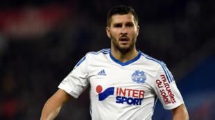 L'attaquant de l'Olympique de Marseille André-Pierre Gignac.