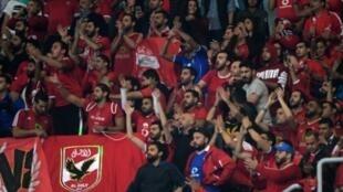 صورة لجماهير ومشجعي النادي الأهلي المصري.