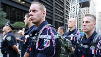 Les sapeurs-pompiers de Melun. (Photo : Sarah Leduc / france24.com)
