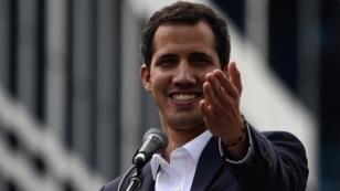 Juan Guaidó à Caracas, le 23janvier2019.