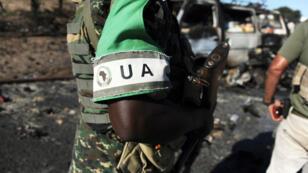 Un soldat de l'Union africaine à Mogadiscio en Somalie.