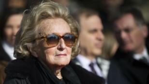 Bernadette Chirac en mars 2016, lors de l'inauguration de la place Charles Pasqua en région parisienne.