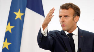 Emmanuel Macron, se dirige al cuerpo diplomático nacional en el encuentro anual de embajadores en el palacio del Elíseo, en París, este 27 de agosto.