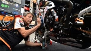 John Footitt told AFP he found the best form of counselling was being part of the True Heroes Racing team, who compete in the British Superbike Championships