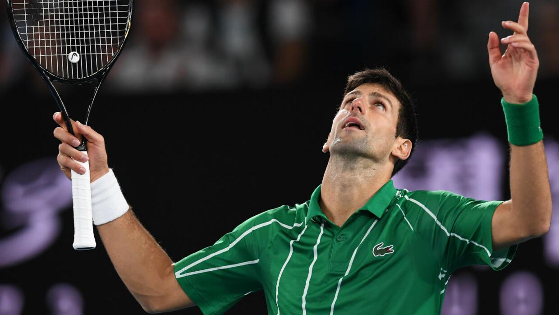 Resultado de imagen de novak djokovic australian open 2020 title