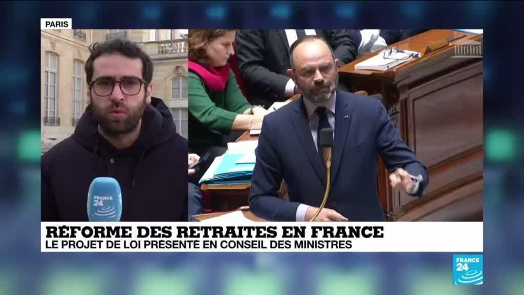 """2020-01-24 15:03 Réforme des retraites : Le projet de loi présenté, l'opposition dénonce un """"texte à trous"""""""