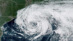Tropical Storm Cristobal is seen on a northern track over the Gulf of Mexico in a satellite image taken on June 7, 2020.