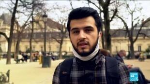 2021-03-18 08:10 De Damas à Paris : un jeune réfugié syrien poursuit son travail de photojournaliste en France