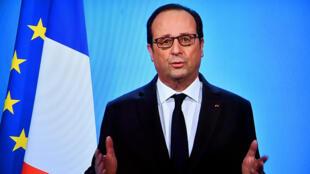 François Hollande, le 1er décembre 2016, lors de son allocution pour annoncer sa non-candidature à la présidentielle 2017.