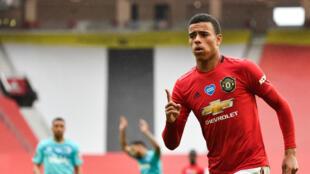 Teenage kicks: 18-year-old Mason Greenwood has scored 15 times for Manchester United this season