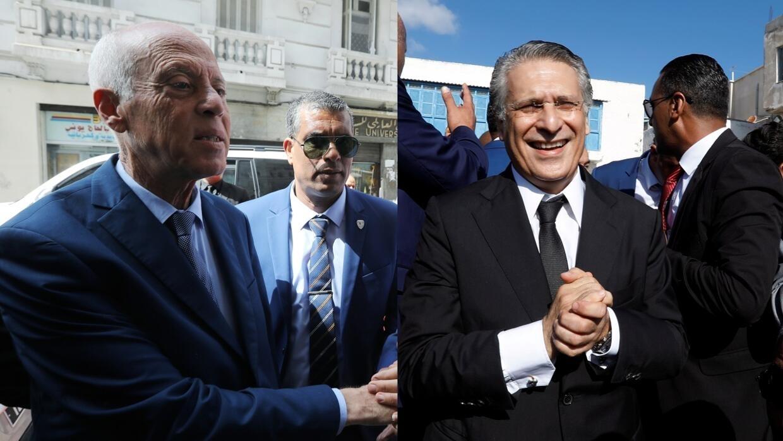 تونس: قيس سعيّد ونبيل القروي يتواجهان في مناظرة تلفزيونية قبل يومين من الانتخابات الرئاسية