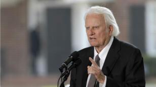 Billy Graham, le 31 mai 2007, à l'inauguration de la libraire qui porte son nom à Charlotte, en Caroline du Nord.