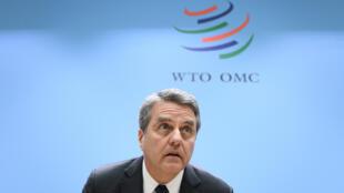 المدير العام لمنظمة التجارة العالمية روبرتو أزيفيدو في جنيف في 10 كانون الأول/ديسمبر 2019