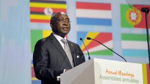 Donald Kaberuka, le président sortant de la Banque africaine de développement (BAD), le 26 mai 2015, à Abidjan