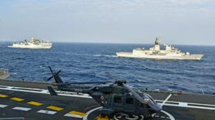 مناورات عسكرية بحرية بمشاركة الولايات المتحدة والهند واليابان واستراليا في تشرين الثاني/نوفمبر 2020