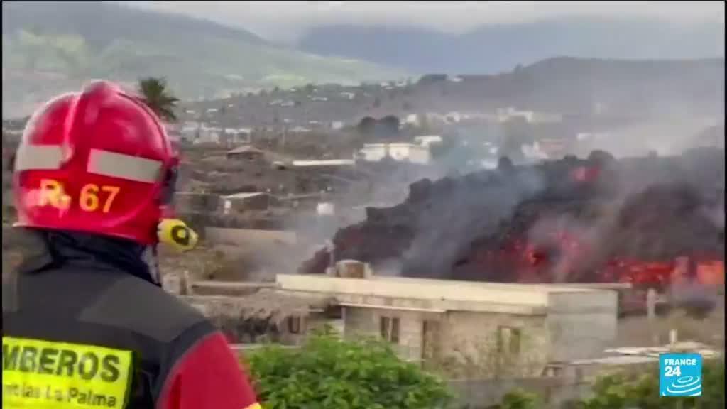 2021-09-21 12:13 Espagne : nouvelle zone de lave du Cumbre Vieja, 6 000 personnes évacuées