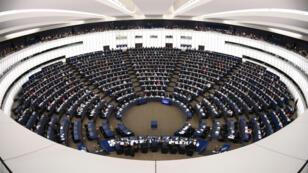 Le Parlement européen en cession plénière à Strasbourg, le 11 décembre 2018 à Strasbourg.