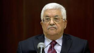 Mahmoud Abbas, samedi 22 août 2015 à Ramallah, lors d'une réunion du Comité exécutif de l'Organisation de libération de la Palestine.