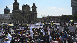 Rural Guatemalan protesters gathered in the capital to call for the resignation of the president and attorney general