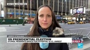 2020-11-03 22:02 US Presidential election: Stores, residents brace for potential N.Y.C unrest