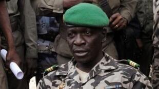 Le général Amadou Sanogo en 2012 après le putsch