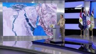 المتحدث باسم الجيش المصري تامر الرفاعي يعلن إطلاق العملية ضد الجهاديين في 9 شباط/فبراير.