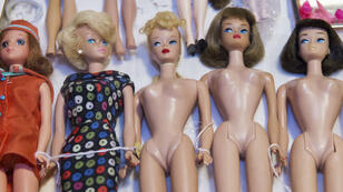 Des poupées Barbie de collection lors d'une vente organisée par des fans en Virginie en 2015.