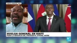 """2021-02-02 13:40 Gotson Pierre: """"En Haití protestan para que el presidente Moïse respete la ley"""""""