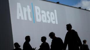 Art Basel, la foire d'art contemporain, lors de son édition de 2019, à Bâle le 12 juin 2019