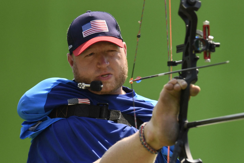 Matt Stutzman lors des Jeux paralympiques de Rio, le 14 septembre 2016.