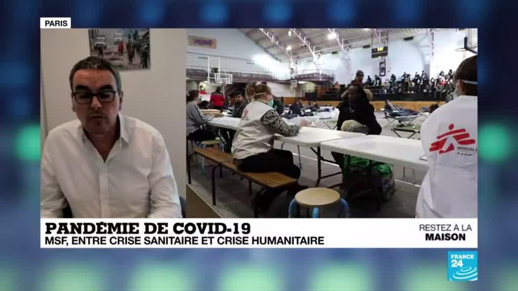 2020-04-17 16:08 Pandémie de Covid-19 : MSF, entre crise sanitaire et crise humanitaire
