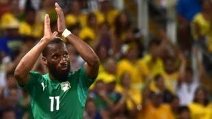 Didier Drogba, pendant la Coupe du Monde 2014
