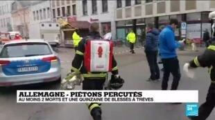 2020-12-01 17:06 Allemagne : une voiture percute des piétons, au moins 2 morts et une quinzaine de blessés